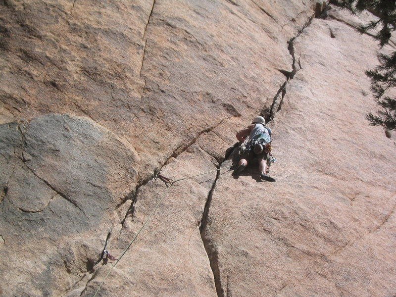 Hogan styling his repoint of Illusion Dweller (5.10b) - his FIRST 5.10b lead.  Yowza!
