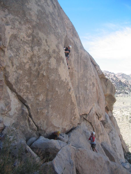 Eric on Friendly Hands (5.10a) at the Jimmy Cliff.