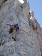 Rock Climbing Photo: Jimmy Menendez on the crux move of Recession Arete...