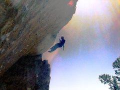 Rock Climbing Photo: Supra chillin on his favorite climb White Queen.