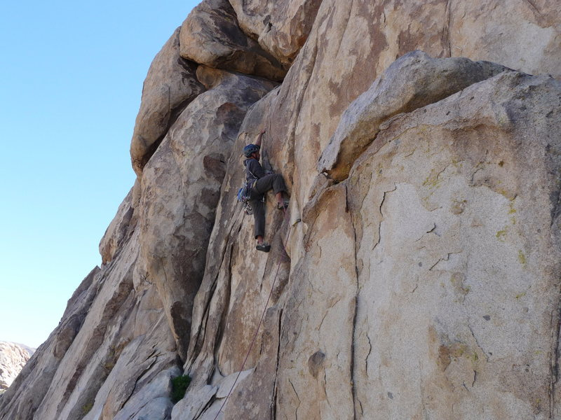 Rock Climbing Photo: The burly crack start. Pic by Kris Solem.