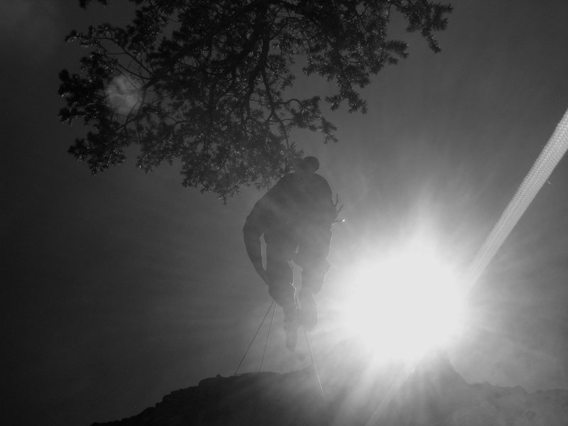 Rock Climbing Photo: Alex on Rappel.