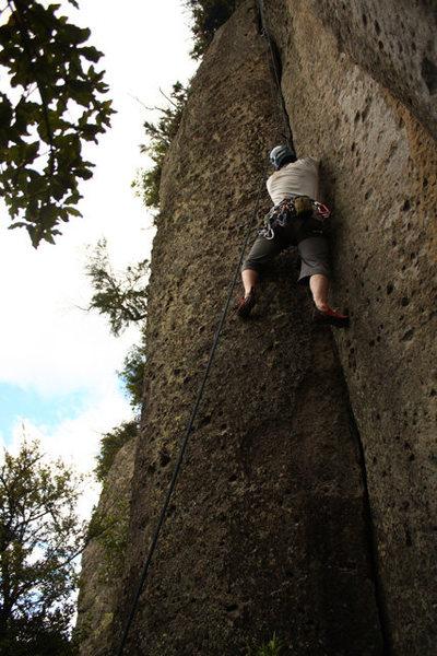 Rock Climbing Photo: Another buttshot.  Moss corner.