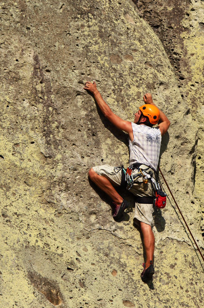Rock Climbing Photo: Slab climbing with pockets...
