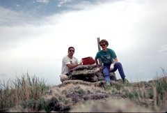 Rock Climbing Photo: Joe and Me on the Summit
