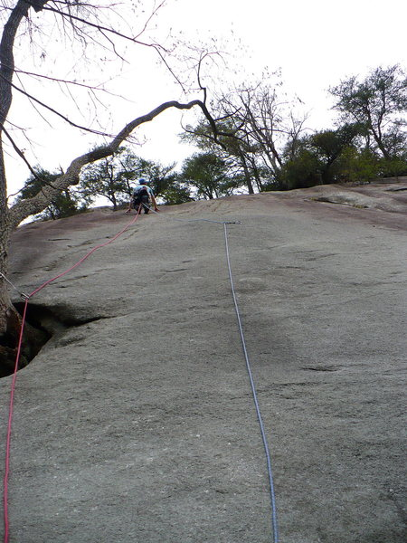 Looking for bolts on Crystal Lizard, Stone Mountain, NC.