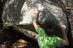 Rock Climbing Photo: Ian sticks the first move.