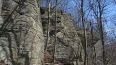 Rock Climbing Photo: An overview of the crags at Mormon Hollow.