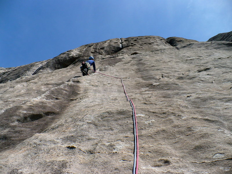 Rock Climbing Photo: Pitch three, Central Pillar, LK, NC.