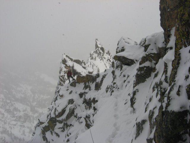 Rock Climbing Photo: Chris Sheridan high on Enter The Dragon.  Photo by...