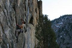 Rock Climbing Photo: Sam on Monkey Wrench.