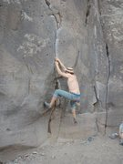 Me, playing around on the crux