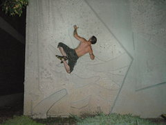 Rock Climbing Photo: Unknown Climber opposing foot lock