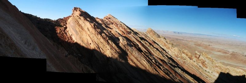 Evening panorama from Death by Chocolate
