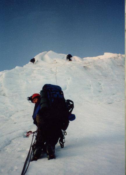 Me and Dave on Mt Baker Coleman Headwall, 1995.