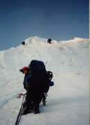 Rock Climbing Photo: Me and Dave on Mt Baker Coleman Headwall, 1995.