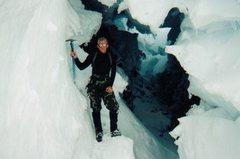 Rock Climbing Photo: Slot on Rainier. 1998