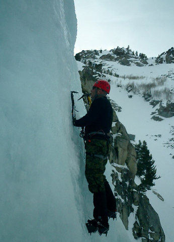 Rock Climbing Photo: Ice Climbing in Lee Vining