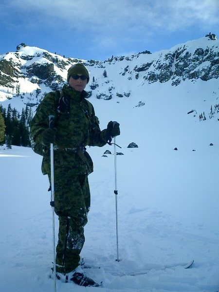 Skiing out of Bounds after Avalanche course. 2006