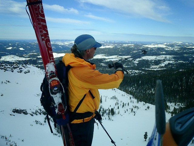 Skiing with Jeff Clark 2006