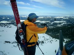 Rock Climbing Photo: Skiing with Jeff Clark 2006