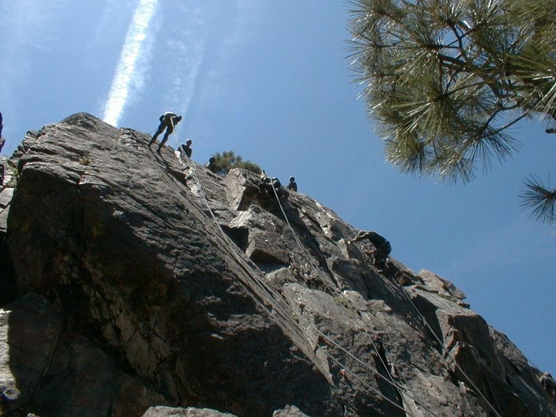 Rock Climbing Photo: Marines Rappelling at Leavitt Training Area (LTA)