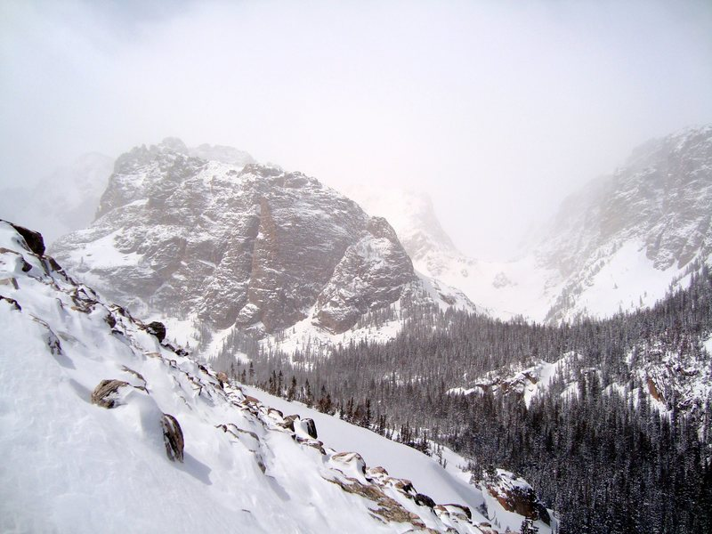 Rock Climbing Photo: Otis Peak on the right and part of the Cathedral S...