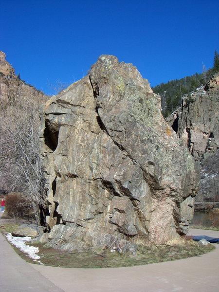 The Hanging Lake Trail Boulder in Glenwood Canyon.