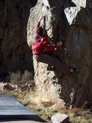 Rock Climbing Photo: The Hanging Lake Trail Boulder.