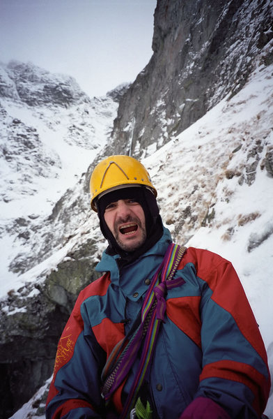 Rock Climbing Photo: Artur on the Korosadowicz Route on Kazalnica Miegu...