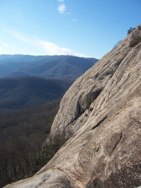 Rock Climbing Photo: Looking Glass, South Side in Feb.