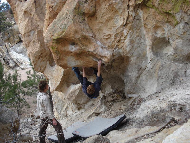 Rock Climbing Photo: kellan, dave spotting