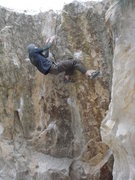 Rock Climbing Photo: one move from top