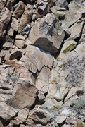 Rock Climbing Photo: A picture of the route. It ascends the obvious arc...