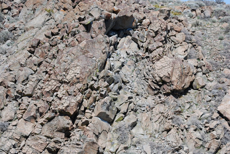 A pic of the boulders.  Already forgotten is located at the bottom of the photo, boulder A is on the right, and boulder B and C are at the top.