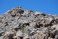 Rock Climbing Photo: A pic of the relation to the Rattlesnake Boulder. ...