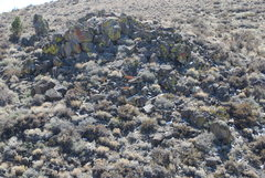 Rock Climbing Photo: A view of the left side of the ravine. In the lowe...