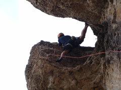 Rock Climbing Photo: Doing the Beer Bong! 5.10b