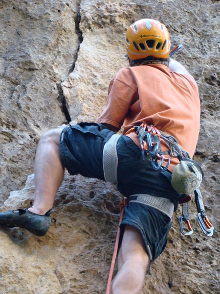 I Love The Big Top! This route arguably has the best 5.9 layback move in the canyon.