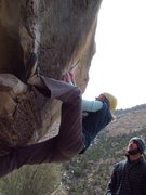 "Rock Climbing Photo: Amber on ""A bobcat in the Kiparoo"""