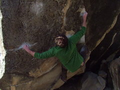 """Rock Climbing Photo: Robbie on """"Planet of the Apes"""""""