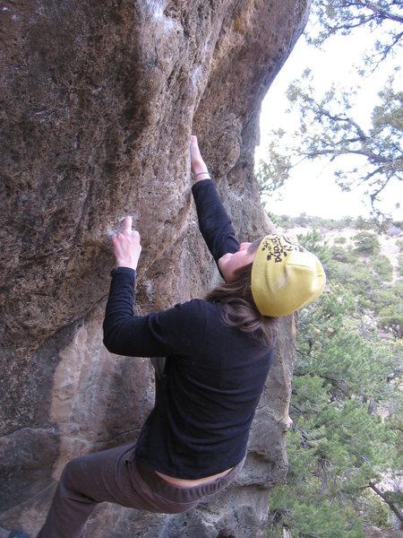 """Rock Climbing Photo: Amber on """"Mono E Mono"""""""