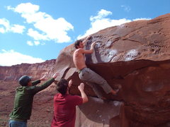 "Rock Climbing Photo: ""Brown Power"" solved"