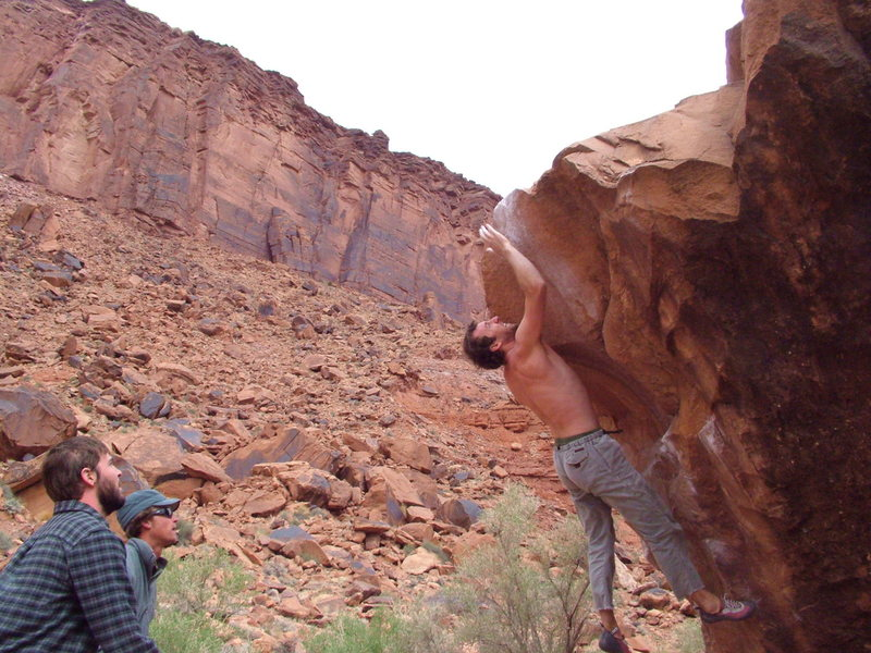 """Rock Climbing Photo: """"Circus Trick"""" with a dyno. Thought it w..."""