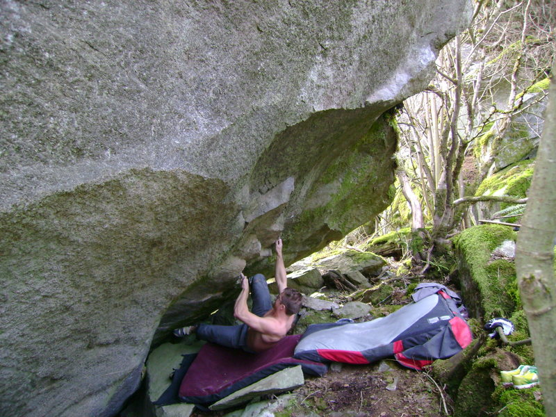 Nate on the first ascent