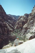 Rock Climbing Photo: View of pine creek canyon from Cat in the Hat