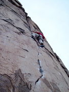 Rock Climbing Photo: Horan on Sunset, 5.11b.