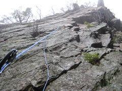 Rock Climbing Photo: Solo aid at Coburn.