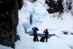 Rock Climbing Photo: Racking up for the climb, watch out for areas of r...