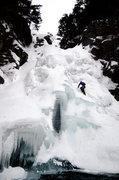 Rock Climbing Photo: Climbing Glen Ellis Falls